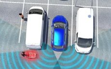 Cross Traffic Alert with Braking uses radar sensors to monitor the area behind the vehicle. If the driver is backing out and does not react to the initial warning, the system is designed to automatically apply the brakes.