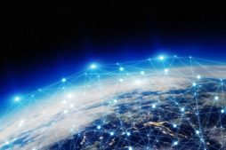 Network and data exchange over planet earth in space